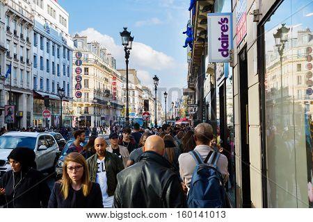 Rue De Rivoli In Paris, France