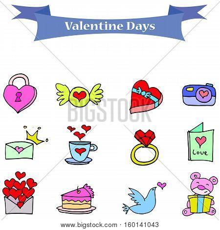 Element valentine day stock illustration vector art