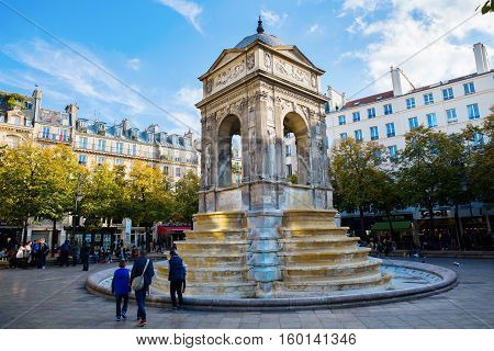 Fontaine Des Innocents In Paris, France