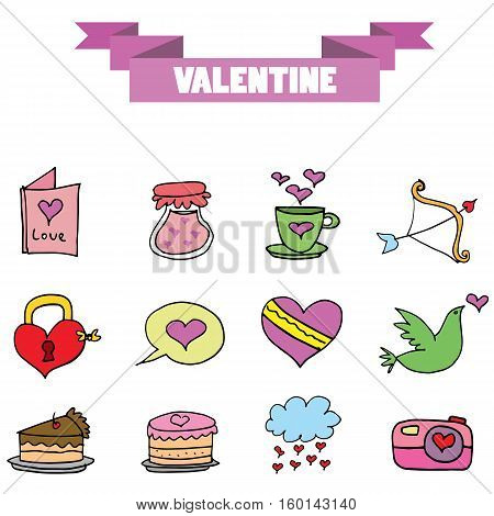 Vector art valentine stock collection illustration stock