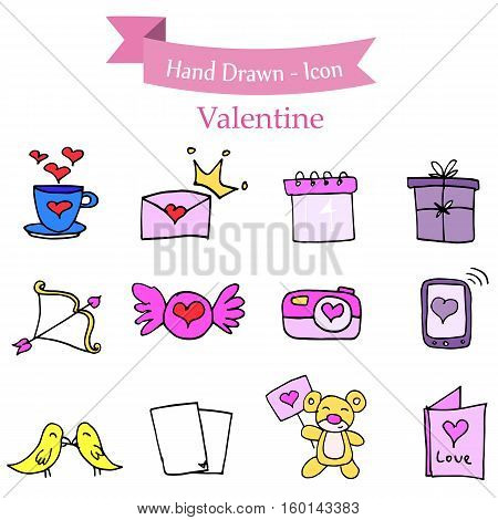 Illustration of element stock valentine day vector art
