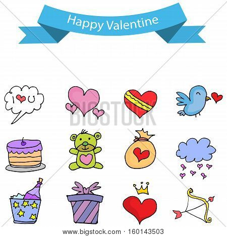 Object valentine day stock collection vector illustration