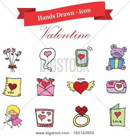 Valentine day element stock vector art illustration