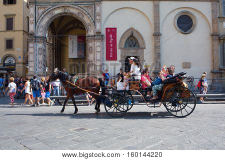 Horse Carriage In Florence, Italy