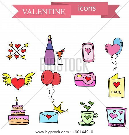 Element stock valentine day collection vector illustration