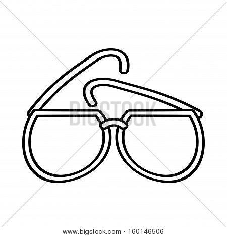 outline sunglasses fashionable beach sunny vector illustration eps 10