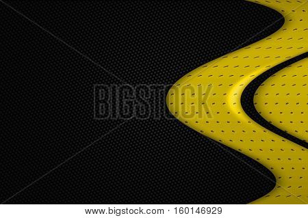 Yellow And Black Metal Background