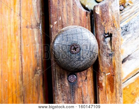Metal lock and Wooden texture and background.
