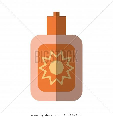 cartoon sun blocker cream protection solar beach shadow vector illustration eps 10