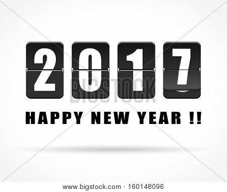 Illustration of mechanical counter for new year