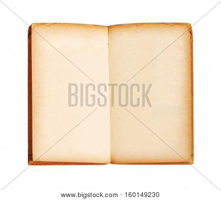 open old book isoalted on white background Saved clipping path.
