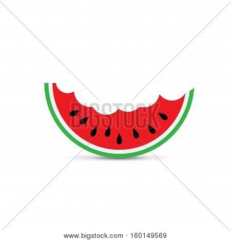 Vector sign abstract watermelon, greengrocer on white