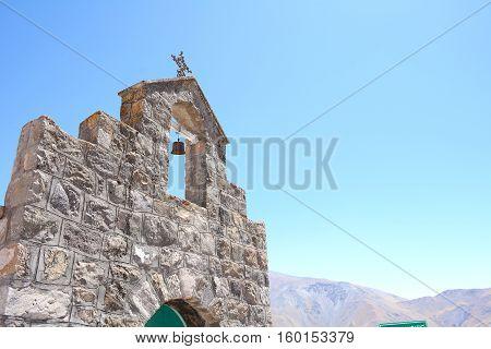 Close up of San Rafael chapel. Salta Argentina.