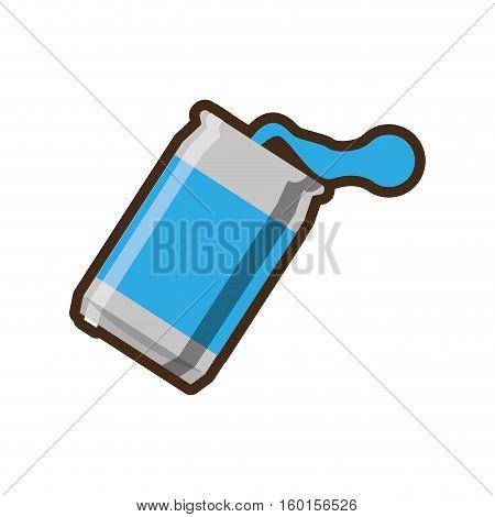 blue can soda liquid drink design vector illustration eps 10