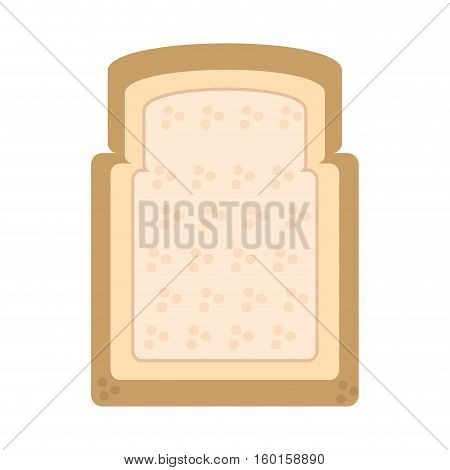 halved bread bakery breakfast design vector illustration eps 10