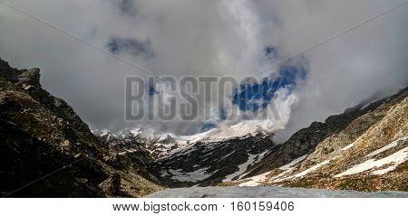 Panorama of Lowari pass Khyber Pakhtunkhwa province Pakistan