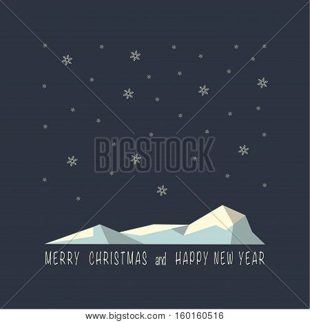 The cover design . Depicts an iceberg in the night  and snowflakes. Under the iceberg phrase merry Christmas and a happy New year.