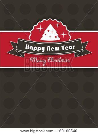 Christmas background, flier design - vector