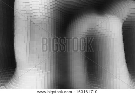 Extruded black and white cave illustration background hd