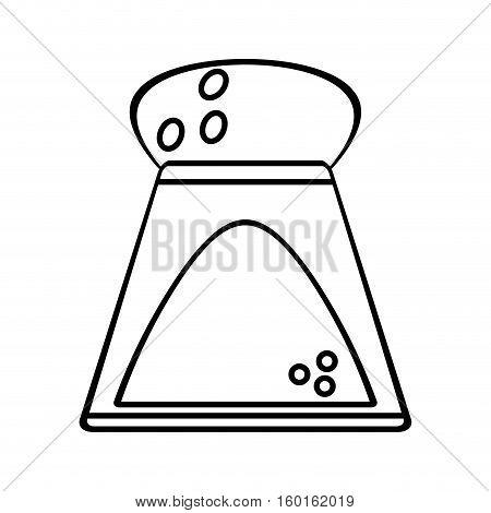 salt shaker bottle ingredient cooking outline vector illustration eps 10