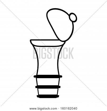 pepper mill shaker kitchen outline vector illustration eps 10