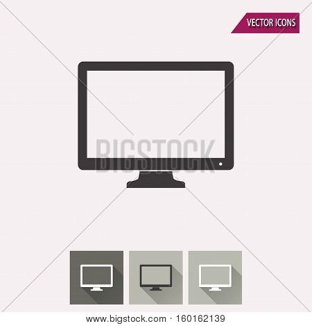 TV vector icon. Illustration isolated for graphic and web design.