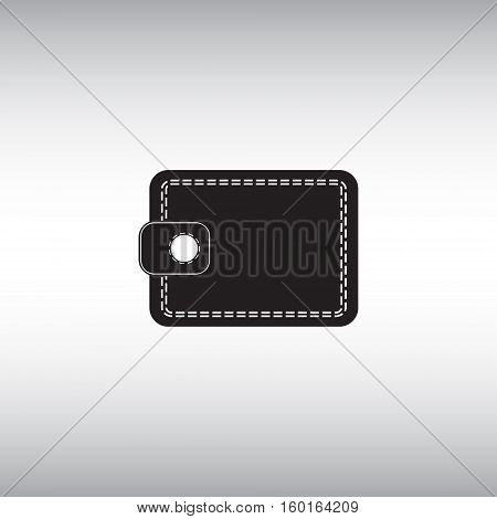 Wallet flat vector icon. Isolated wallet vector sign. Online wallet symbol. Electronic commerce vector image.
