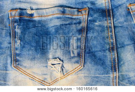 Jeans texture. Part of the blue jeans