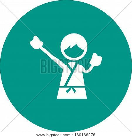 Karate, kids, taekwondo icon vector image. Can also be used for kids. Suitable for web apps, mobile apps and print media.