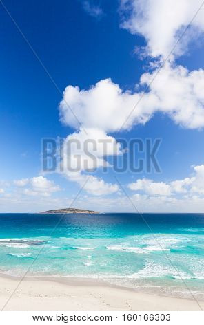 A view of Cull Island off West Beach in the town of Esperance, Western Australia.