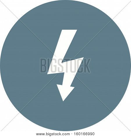 Voltage, high, sign icon vector image. Can also be used for warning caution. Suitable for mobile apps, web apps and print media.