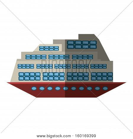 cruise boat transatlantic vacation recreation shadow vector illustration eps 10