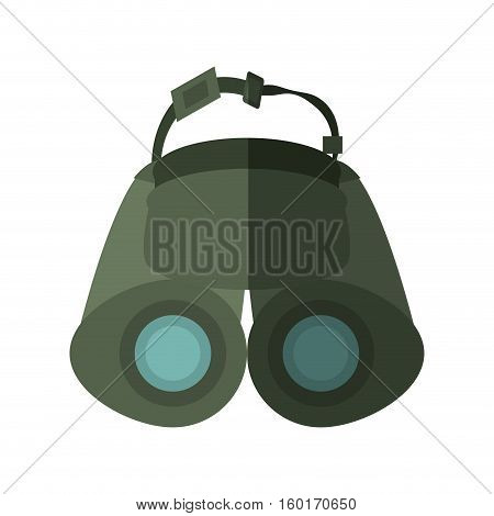 binoculars explorer spyglass observation shadow vector illustration eps 10