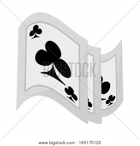 pocker magic trick show vector illustration eps 10