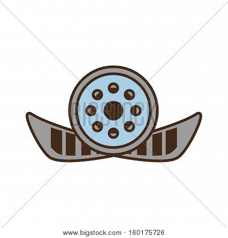cartoon reel film movie wheel icon vector illustration eps 10