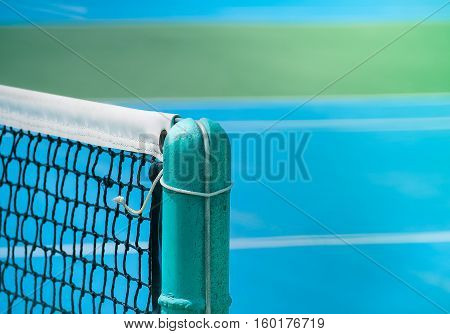 Tennis court and net, Retro color and close up image