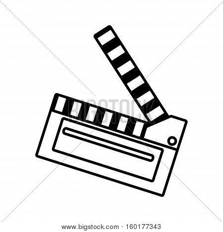 film clapper chalkboard scene icon outline vector illustration eps 10