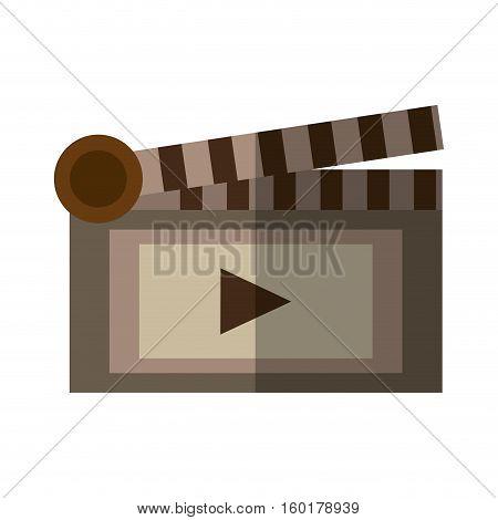 film clapper chalkboard scene icon shadow vector illustration eps 10
