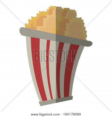 bucket pop corn cinema graphic shadow vector illustration eps 10