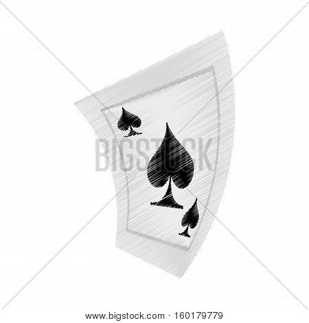 aces spades poker playing card drawing vector illustration eps 10
