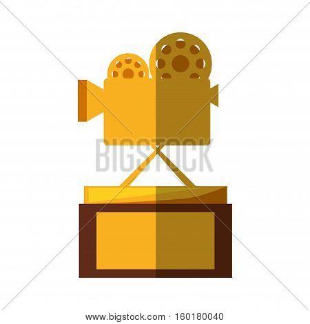 movie cinema trophy awards shadow vector illustration eps 10