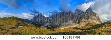 Mountain View, Italian Alps, Dolomites, South Tyrol, Italy