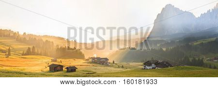 Sunrise in the Alps, South Tyrol, Dolomites, Italy