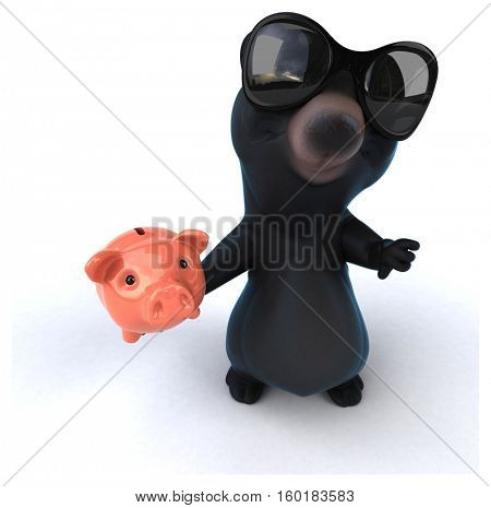 Fun bear - 3D Illustration