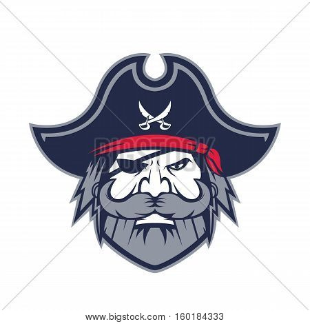 Clipart picture of a pirate head cartoon mascot logo character