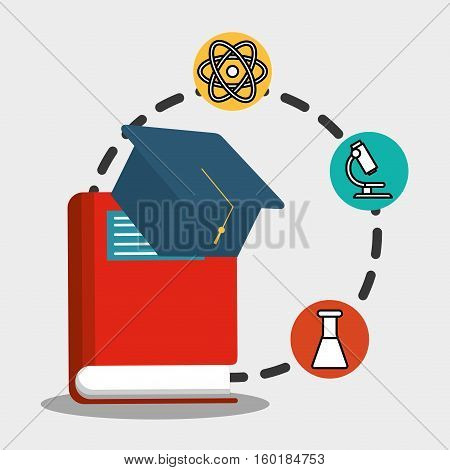 school red book graduation physical chemistry vector illustration