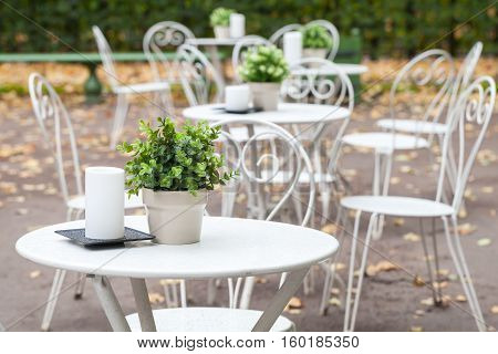 Outdoor Cafeteria Background Interior