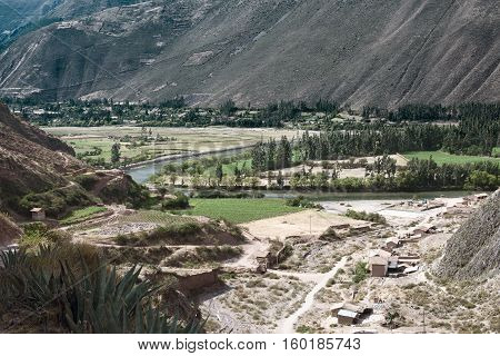 Sacred Valley of the Incas located in the present-day Peruvian region of Cusco. October 18, 2012 - Cusco, Peru