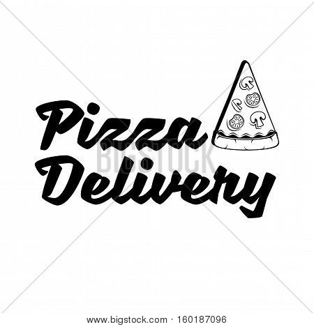 Slice Of Pizza. Pizza Delivery. Traditional Italian Cuisine. Vector Illustration