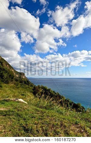 Mediterranean Adriatic sea landscape near Budva, Montenegro, Europe.